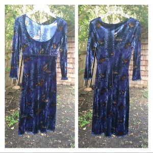 Cute VTG Betsey Johnson Velvet Butterfly Dress